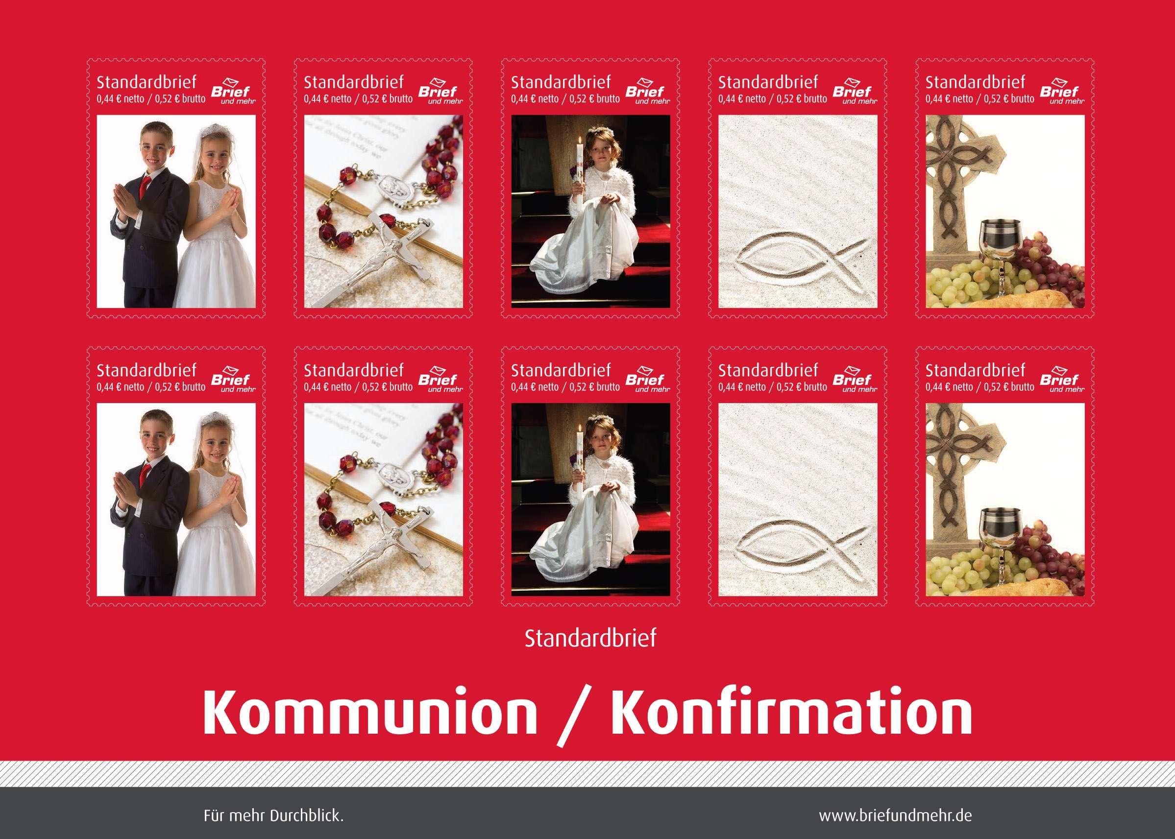 Kommunionkonfirmation Standardbrief Sammelmarken